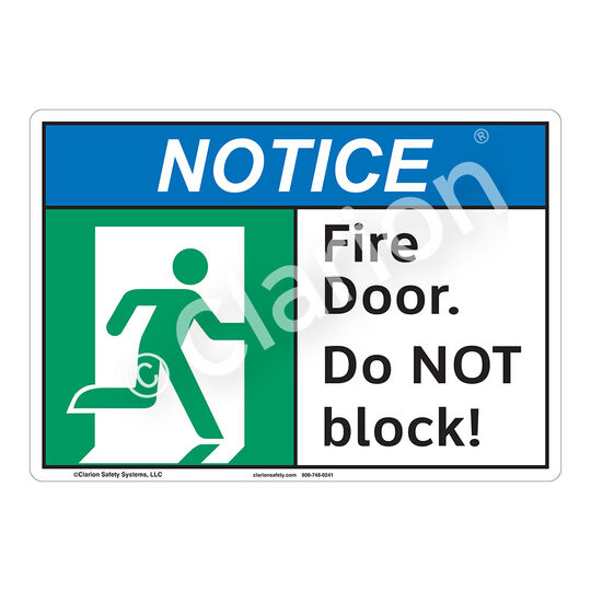 Notice Fire Door Sign