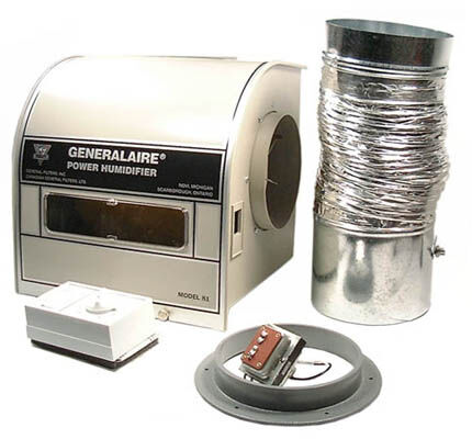 POWER HUMIDIFIER, DRUM TYPE, INSTALLATION KIT AND HUMIDISTAT INCLUDED