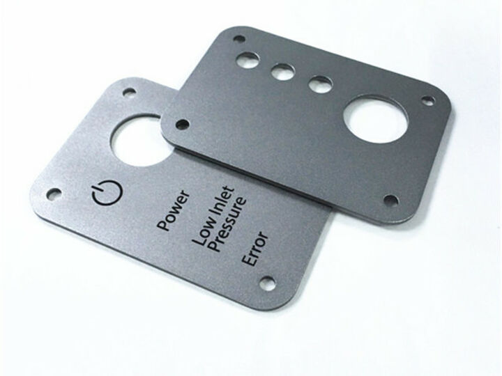 Customized Aluminum Laser cutting + Clear Anodized + Laser Engraving parts