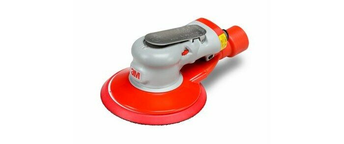 3M 28508 CENTRAL VACUUM PNEUMATIC RANDOM ORBITAL SANDER - 6 IN DIA - 12,000 RPM -.28 HP