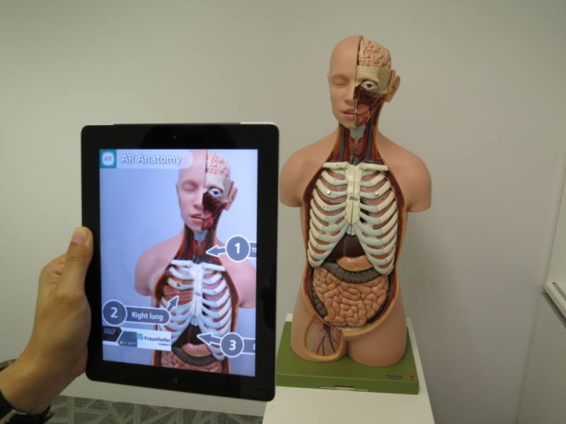 Augmented reality used for medical education