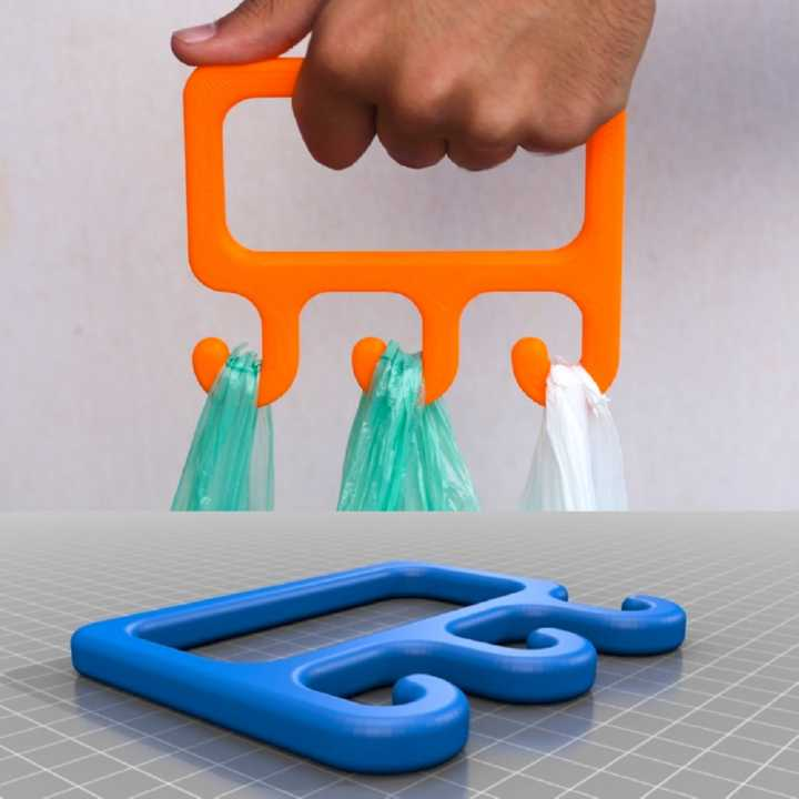 3D printed Bag Holder – Shopping Handle