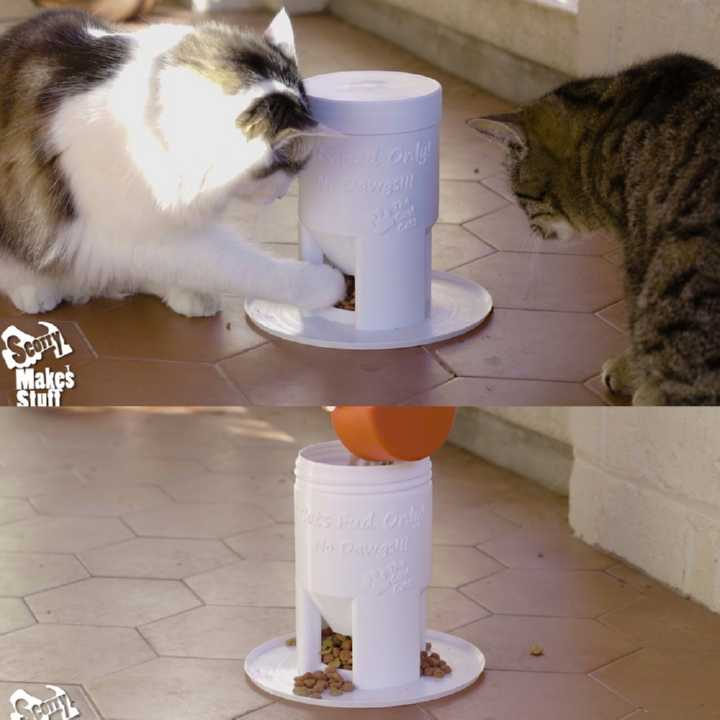 Dog-Proof Cat Feeder