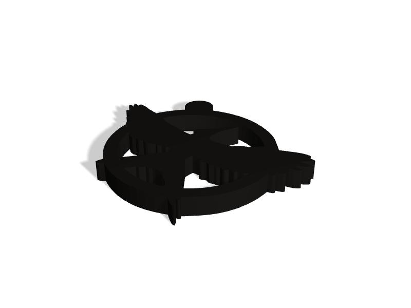 Mockingjay Logo Keychain