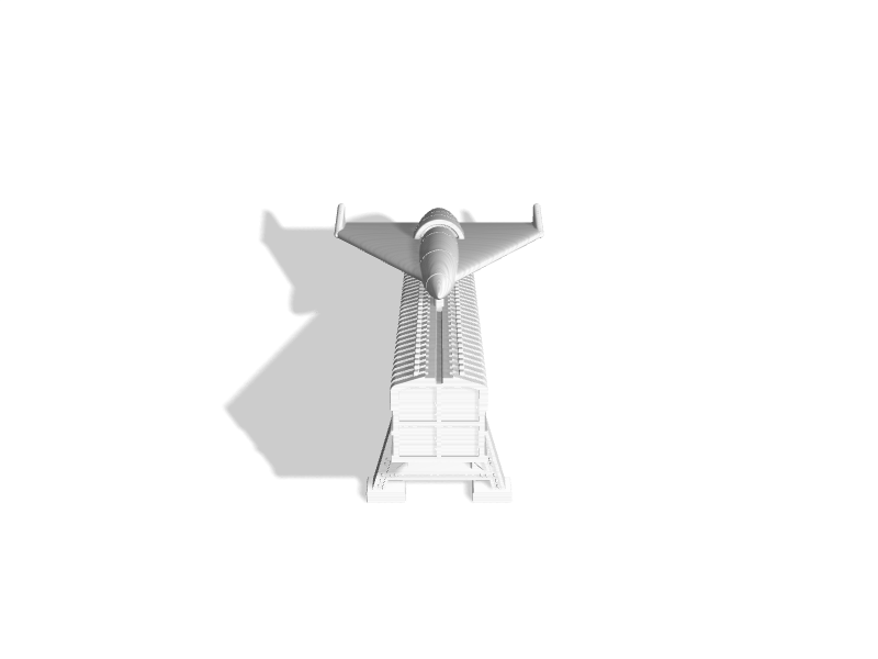 (1:72) Horten Supersonic Missile On Ramp