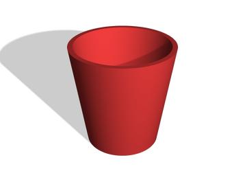 Rectilinear flowerpot ⌀ 14cm