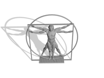 The  Vitruvian  Man  Sculpture at  Belgrave