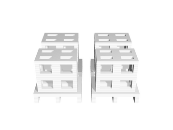 Euro Pallet, 4x With Box scale 1-100