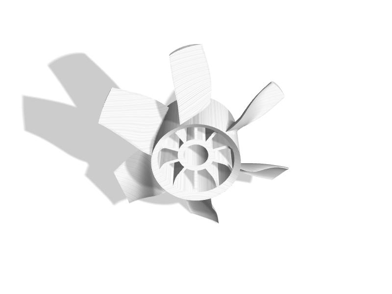 70mm EDF 6-Blade Fan