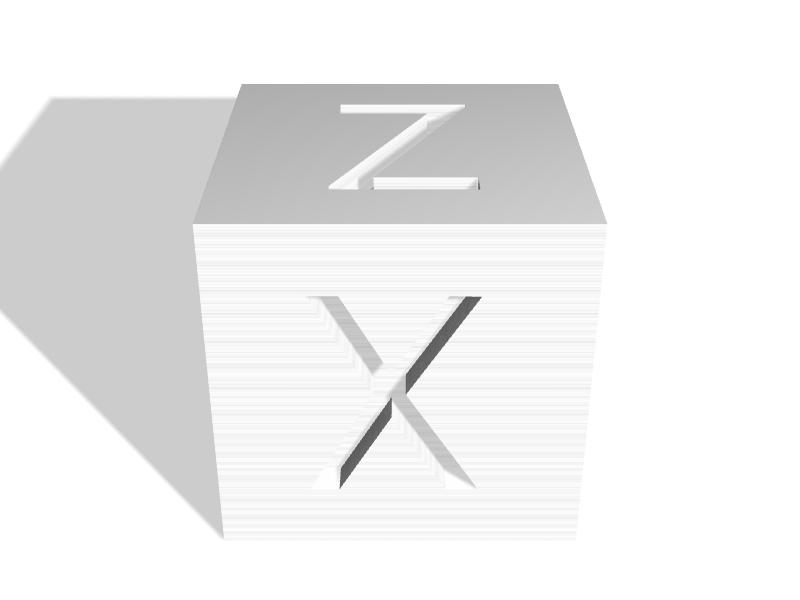 XyzCalibration cube