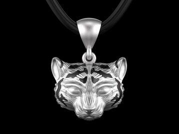 Pendant tiger cub head 0190