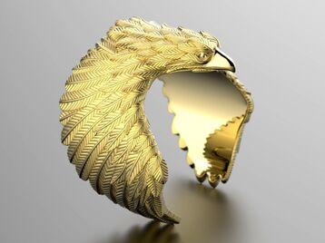 Eagle fashion ring 0156