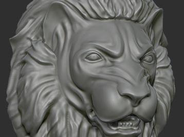 Leon Head Bas-relief