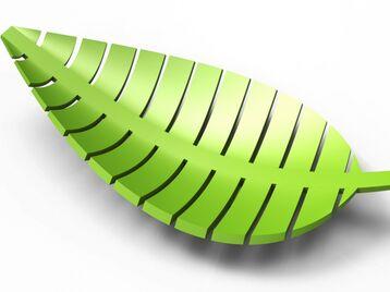 Leaf shaped bowl