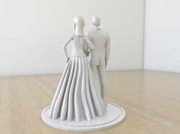 Wedding couple cake decor
