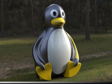 3 D model of  Penguin  P E R C Y