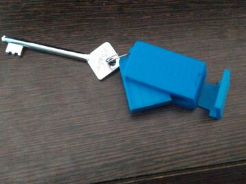 Mobile holder key chain