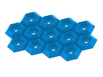 Hexagonal Pattern Soap Dish