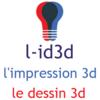 l-id3d l'impression 3d , le dessin 3d Logo