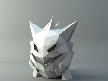 Gengar Low-poly Pokemon
