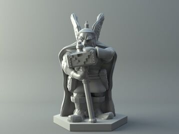Dwarven warrior - D&D miniature