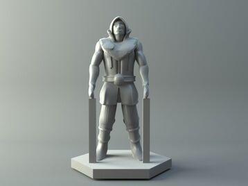 Human thief - D&D miniature