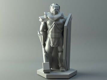 Human priest - D&D miniature