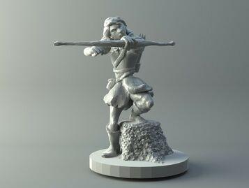 Female archer - D&D miniature