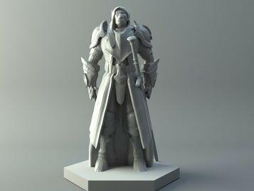 Elven ranger - D&D miniature